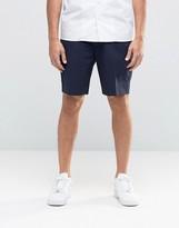 Asos Skinny Tailored Shorts In Navy Seersucker