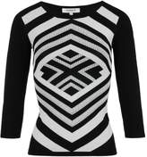 Morgan Two-Tone Geometrical Pattern Jumper