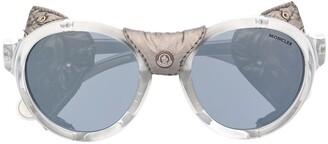 Moncler Eyewear Studded Leather Sunglasses