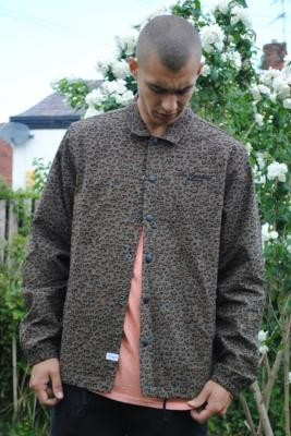 The Hundreds Men's Risk Leopard Print Coach Jacket - Brown S at Urban Outfitters