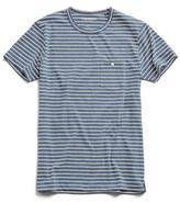 Todd Snyder Stripe Button Pocket T-Shirt in Blue