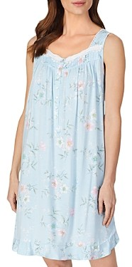 Eileen West Floral Print Chemise Nightgown