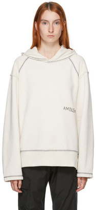 Ambush Off-White Raw Edge Logo Hoodie