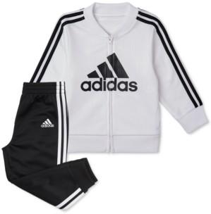 adidas Baby Boys 2-Pc. Tricot Jacket & Jogger Pants Set