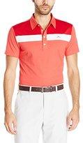 J. Lindeberg Men's Cory Slim-Fit Lux Bridge Jersey Golf Polo Shirt, Red Melange
