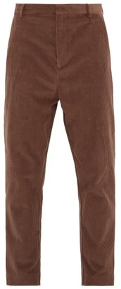 Raey Tapered-leg Cotton-blend Corduroy Trousers - Mens - Brown