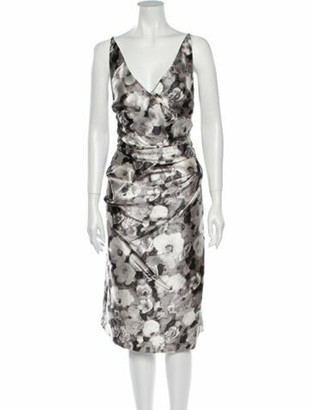 Oscar de la Renta 2016 Midi Length Dress w/ Tags Grey