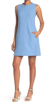 Donna Morgan Jewel Neck Mini Shift Dress