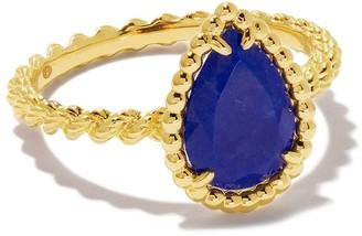 Boucheron 18kt yellow gold Serpent Boheme lapis lazuli ring