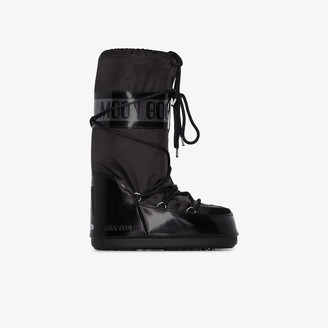 Moon Boot Black Glance classic snow boots