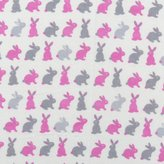 SheetWorld Fitted Pack N Play (Graco Square Playard) Sheet - Girls Bunny Rabbits - Made In USA - 36 inches x 36 inches ( 91.4 cm x 91.4 cm)