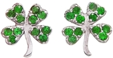 Jennifer Meyer Emerald Clover Studs - White Gold