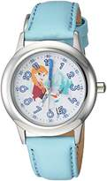 Disney Girl's 'Frozen Anna' Quartz Stainless Steel Casual Watch, Color:Blue (Model: WDS000206)