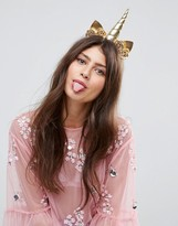 Asos Metallic Unicorn Headband