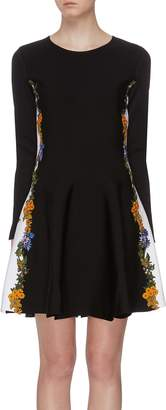 Oscar de la Renta Floral applique outseam dress