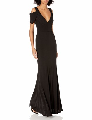 ABS by Allen Schwartz Women's Triangle Sleeve Deep V-Nk Gown