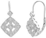 Bliss Cubic Zirconia & Sterling Silver Diamond-Shape Drop Earrings