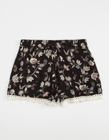 Full Tilt Floral Crochet Girls Shorts