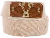 Valentino Crystal Embellished Logo Belt