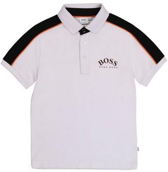 Boss Kids Contrast-Sleeve Polo Shirt (4-16 Years)