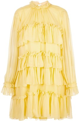 Adam Lippes Tiered Ruffle Dress