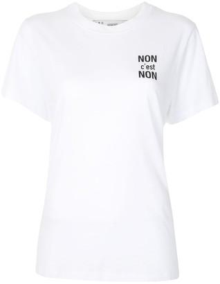 IRO slogan print cotton T-shirt