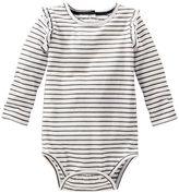 Osh Kosh Baby Girl Striped Ruffled Bodysuit