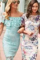 Paper Dolls Mint Bardot Dress