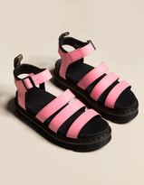 Dr. Martens Blaire Hydro Leather Womens Pink Lemonade Sandals