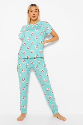 boohoo Santa In The Sun Legging Christmas Pyjama Set