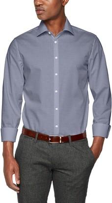Seidensticker Men's Slim Langarm mit Kent Kragen bugelfrei Business Shirt