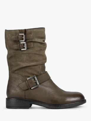 Geox Catria Ankle Boots, Olive