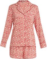 Stella-McCartney-Lingerie STELLA MCCARTNEY LINGERIE Poppy Snoozing hearts-print silk pyjama set