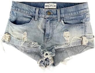 Wildfox Couture Blue Denim - Jeans Shorts