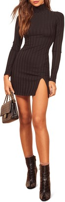 Reformation Libra Long Sleeve Minidress