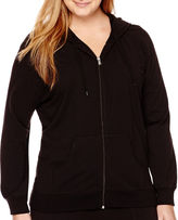 JCPenney Made For Life French Terry Hoodie - Plus