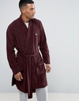 Asos Shawl Neck Towelling Dressing Gown With Logo