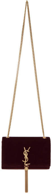 Saint Laurent Red Small Kate Chain Shoulder Bag