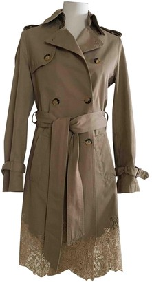 Valentino Red Beige Cotton Coat for Women