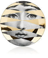 "Fornasetti Face With Diamond Design"" Plate"