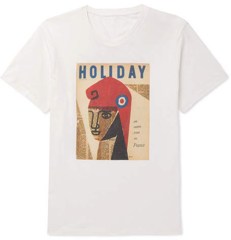 Off-White Holiday Boileau - Printed Cotton-Jersey T-Shirt - Men