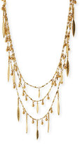 Sequin Multilayer Golden Beaded Necklace