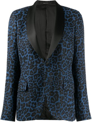 R 13 Leopard Print Blazer