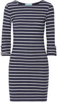 Melissa Odabash Maddie Striped Ribbed Stretch-jersey Mini Dress - Midnight blue