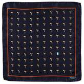 Black 'The Hangover' Italian Silk Pocket Square