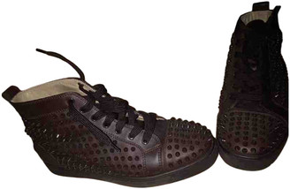 Christian Louboutin Louis Brown Leather Trainers