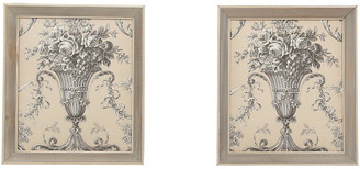 One Kings Lane Vintage French-Style Fabric Panels - Set of 2 - Interesting Things