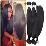 Echo Beauty 6a Brazilian Straight Hair 4 Bundles Mixed of 12inch 14inch 16inch 18inch Natural Black Color Virgin Brazilian Straight Weave