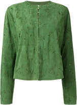 Drome foliage stamp jacket - women - Leather - M