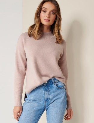 Forever New Riley Stand-Neck Essential Jumper - Blush - l